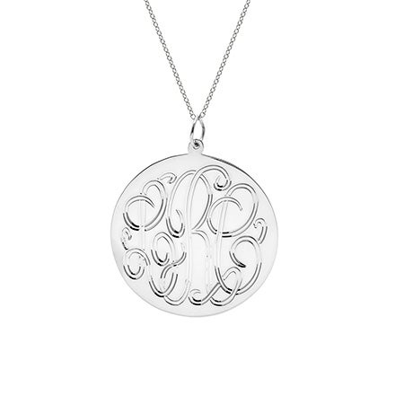 Sterling Silver Monogram Tag Pendant
