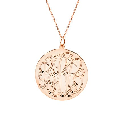 Rose Gold Vermeil Monogram Tag Pendant