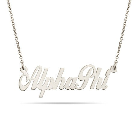 Sterling Silver Alpha Phi Necklace