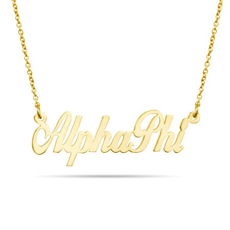 Alpha Phi Gold Vermeil Sorority Necklace