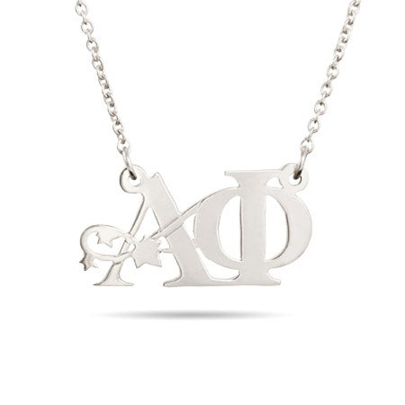 Alpha Phi Ivy Letter Necklace | Eve's Addiction