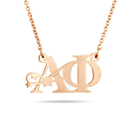 Rose Gold Vermeil Alpha Phi Ivy Necklace
