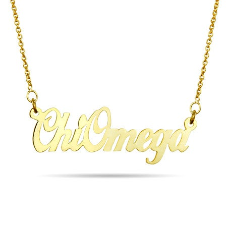 Chi Omega Gold Vermeil Sorority Necklace