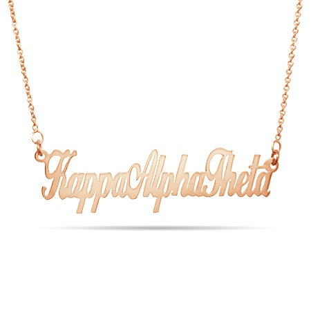 Kappa Alpha Theta Rose Gold Plated Necklace