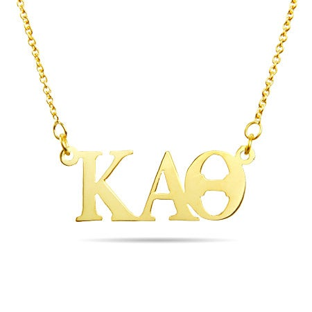 Kappa Alpha Theta Gold Plated Letter Necklace