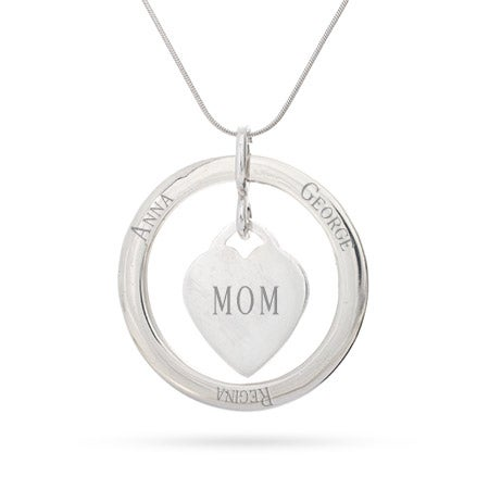 Personalized Loop with Heart Tag Pendant