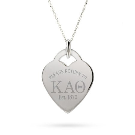 Return to Kappa Alpha Theta Silver Heart Pendant