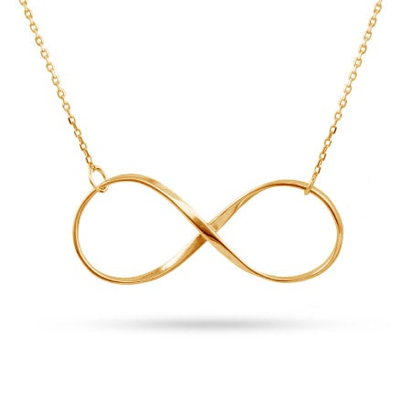 Gold Vermeil Large Infinity Necklace