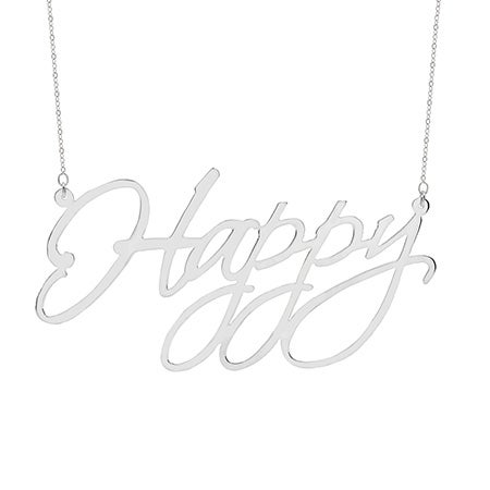 Sterling Silver X-Large 2 Inch Statement Nameplate Necklace