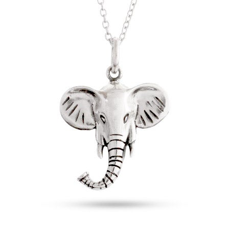 Sterling Silver Lucky Elephant Pendant