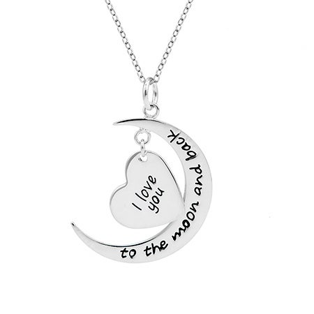 Personalized I Love You To The Moon and Back Necklace