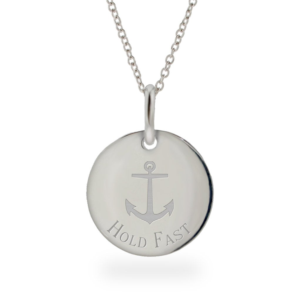 Engravable Hold Fast Anchor Necklace