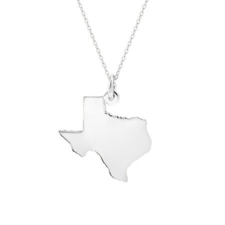 Sterling Silver State Pendant | Eve's Addiction®