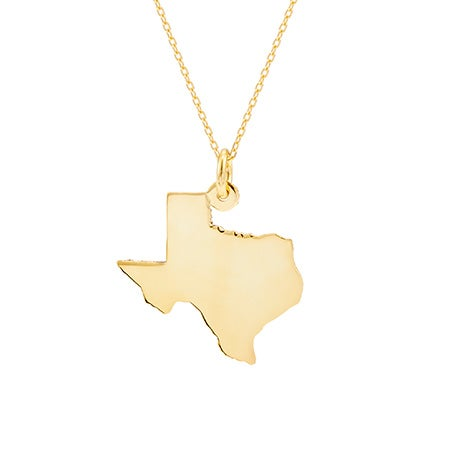 Gold Vermeil State Necklace | Eve's Addiction®