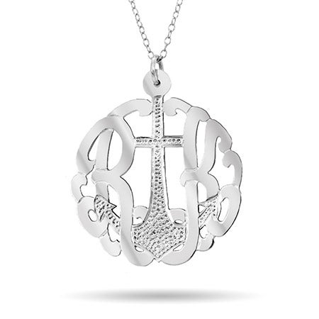 Two Initial Anchor Silver Monogram | Eve's Addiction®