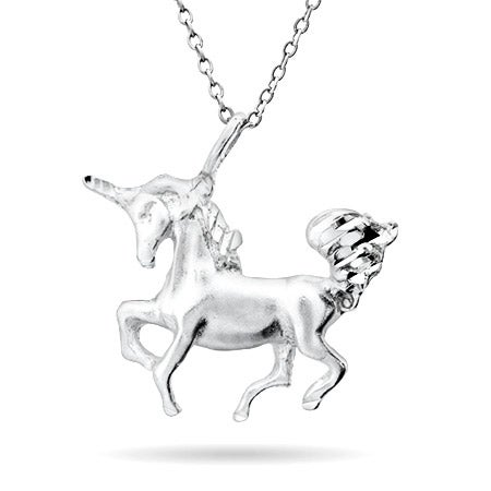Unicorn Silver Charm Necklace