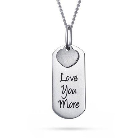 Love You More Engravable Tag Pendant