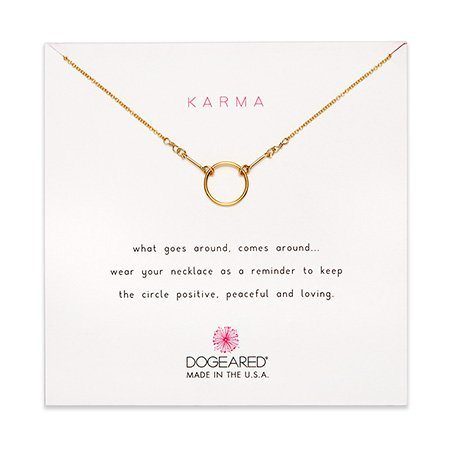 Dogeared Karma Gold Dipped Necklace | Eve's Addiction