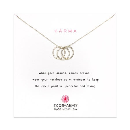 Dogeared Karma Triple Ring Necklace | Eve's Addiction