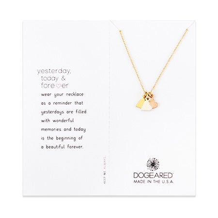 Dogeared Yesterday, Today, Forever Necklace