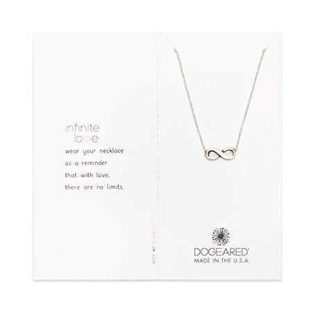 Dogeared Infinite Love Sterling Silver Necklace | Eve's Addiction®