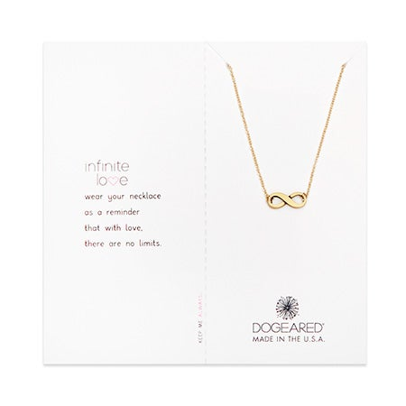 Dogeared Infinite Love Gold Dipped Necklace | Eve's Addiction®