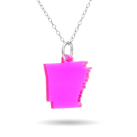 Arkansas Acrylic State Necklace | Eve's Addiction®