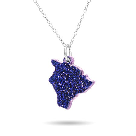 Hawaii Acrylic State Necklace