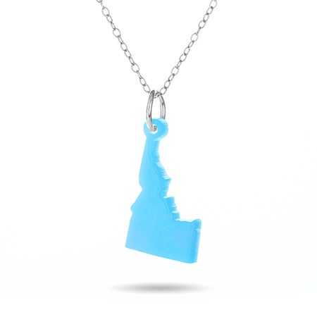 Acrylic Idaho State Necklace