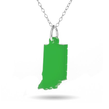 Acrylic Indiana State Necklace