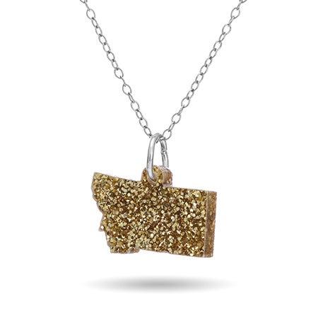 Acrylic Montana State Necklace