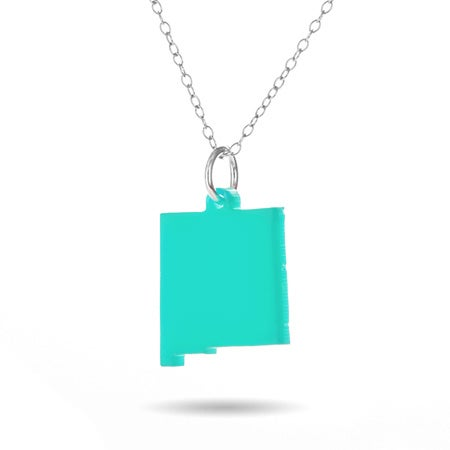 New Mexico Acrylic State Necklace