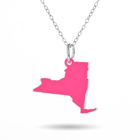 New York Acrylic State Necklace