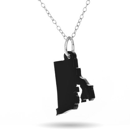 Rhode Island Acrylic State Necklace | Eve's Addiction
