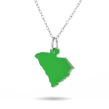 Acrylic South Carolina State Necklace