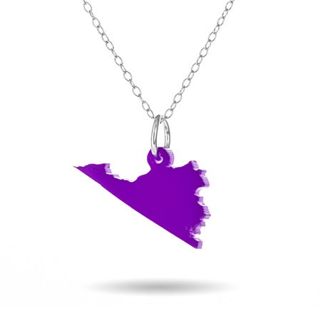 Virginia Acrylic State Necklace