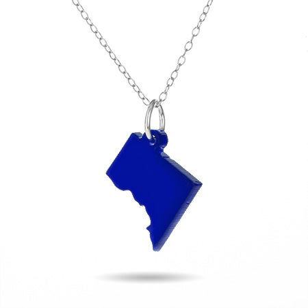 Washington DC Acrylic State Necklace
