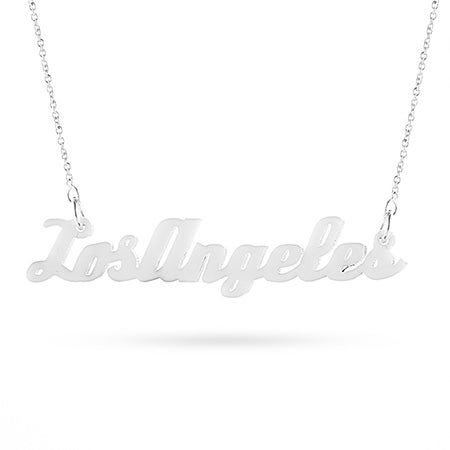 White Acrylic Los Angeles Necklace