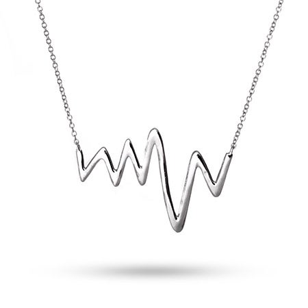 Heartbeat Necklace in Sterling Silver