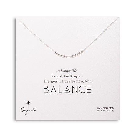 Dogeared Balance Smooth Bead Sterling Silver Necklace