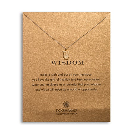 Dogeared Wisdom Owl Gold Dipped Necklace