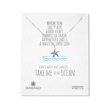 Dogeared Sterling Silver Take Me To The Ocean Starfish Necklace