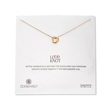 Dogeared Gold Dipped Love Knot Necklace