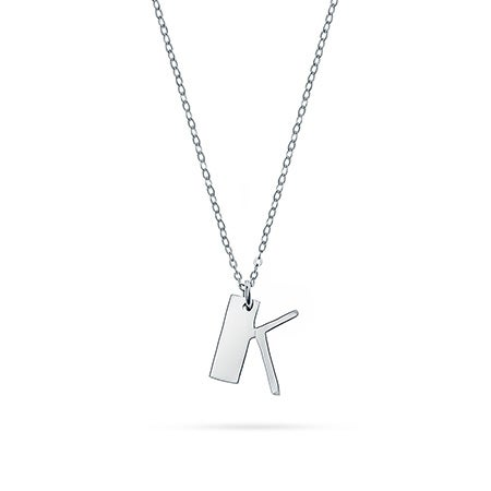 Personalized Initial Silver Charm Pendant