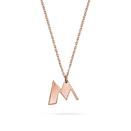 Personalized Initial Rose Gold Charm Pendant