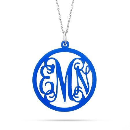 Script Acrylic Monogram Necklace