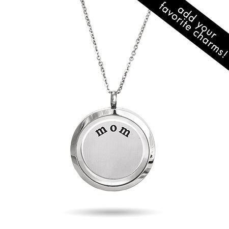 Mom Floating Charm Locket Necklace