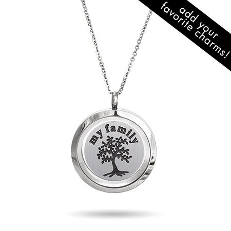 Family Tree Floating Charm Locket
