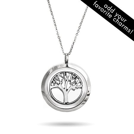 Tree of Life Round Floating Charm Locket