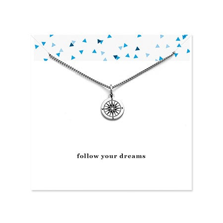 Engravable Compass Graduation Necklace